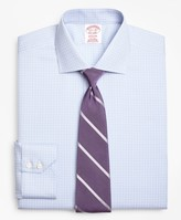 Brooks Brothers Madison Classic-Fit Dress Shirt, Non-Iron Two-Tone Graph Check