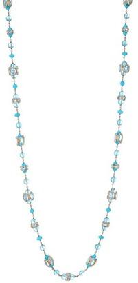 Etho Maria 18K Rose Gold, Blue Topaz & Turquoise Long Necklace