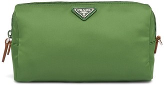 Prada Logo Plaque Make Up Bag
