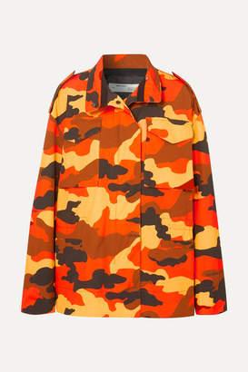 Off-White Off White Oversized Camouflage-print Cotton Jacket - Orange