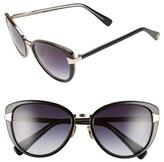 Oscar de la Renta Women's '219' 55Mm Cat Eye Sunglasses - Black