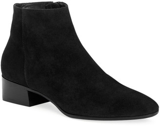 Aquatalia Fuoco Low-Heel Suede Zip Booties