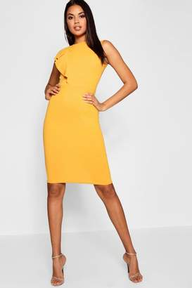 boohoo Ruffle Detail Midi Dress