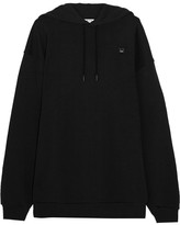 Acne Studios Yala Face Oversized Embroidered Cotton-jersey Hooded Top - Black