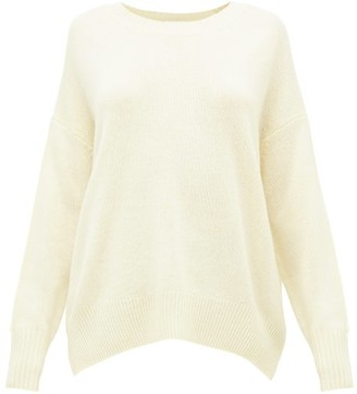Allude Oversized Round-neck Cashmere Sweater - Light Yellow