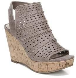 Fergalicious Kortey Laser-Cut Cork Wedge Sandals