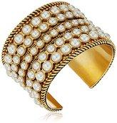 Rachel Zoe Sterling Pearl Cuff Bracelet