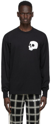 Palm Angels Black Skull Long Sleeve T-Shirt