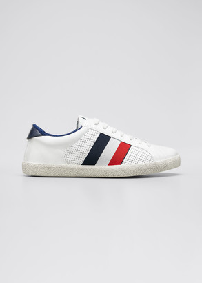 Moncler Men's Ryegrass Terrycloth-Lined Low-Top Sneakers