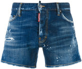DSQUARED2 stonewashed distressed denim shorts - men - Cotton/Polyester/Spandex/Elastane - 46