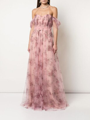 Tulle Draped Bridesmaid Gown