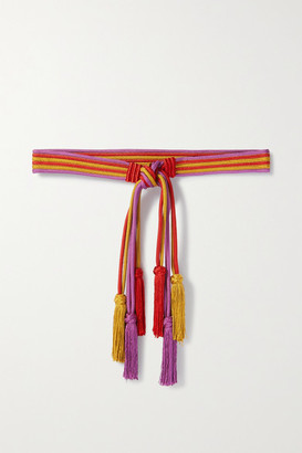 Etro Tasseled Braided Cord Belt - Red