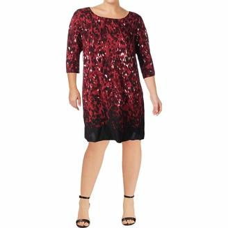 Junarose Women's Plus Size Fluva Zeenan Elbow Sleeve Dress