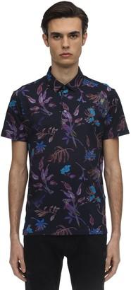 Etro Floral Print Cotton Jersey Polo