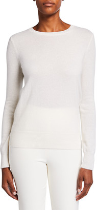 Neiman Marcus Classic Crewneck Cashmere Sweater