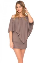 Luli Fama Cosita Buena Cover Ups Party Dress in Sandy Toes (L177981)