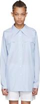 Miu Miu Blue Poplin Fantasia Shirt