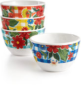 Certified International Frida 4-Pc. Melamine Mixed Dip Bowl Set
