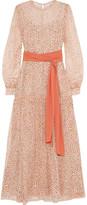 Jonathan Saunders Della Printed Silk-chiffon Maxi Dress - Pastel pink