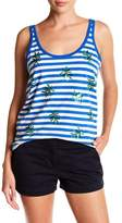 J.Crew J. Crew Striped Sequin Leaf Tank