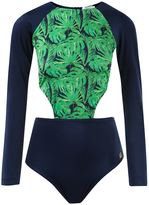 BRIGITTE foliage long sleeved swimsuit