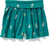 Old Navy Printed Fold-Over Shorts for Toddler