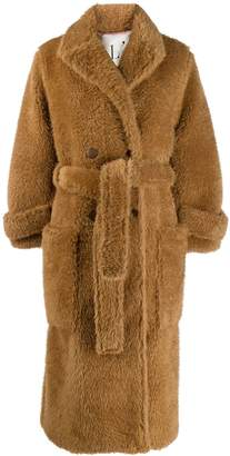 L'Autre Chose belted single-breasted coat
