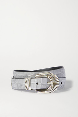 Andersons Croc-effect Leather Belt - Gray
