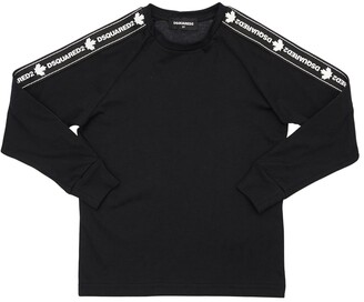 DSQUARED2 Cotton Jersey T-shirt W/ Logo Bands