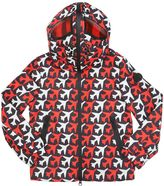 AI Riders On The Storm Printed Nylon Hooded Windbreaker Jacket