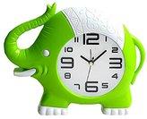 Retro Creative Elephant Noiseless Alarm Clock Kids' Birthday Gift Green