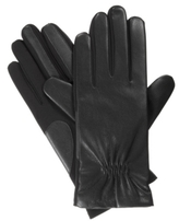 Isotoner Stretch Faux Leather Stretch Palm Gloves