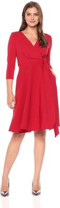 Sangria Women's Long Sleeve Wrap Dress