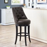 "Karam Swivel Bar & Counter Stool Red Barrel Studio Seat Height: Bar Stool (30"" Seat Height)"