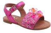 Nina Toddler Girl's Lindy Crystal Flower Sandal