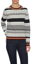 Lucca Couture Tipped Crewneck Sweater