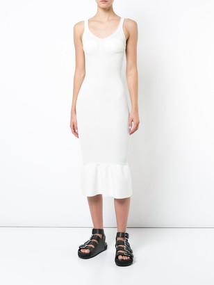 Alexander Wang Peplum Hem Bodycon Dress White