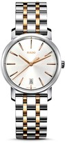 Rado Diamaster Stainless Steel & Rose Gold PVD Watch, 33mm