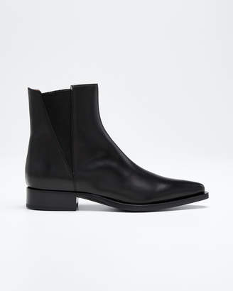 Sartore Pointed-Toe Leather Chelsea Boots