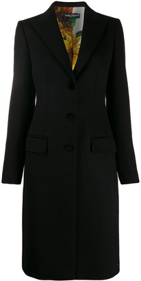 Dolce & Gabbana Single-Breasted Fitted Coat