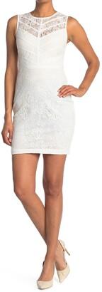 GUESS Lace Sleeveless Sheath Dress
