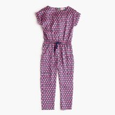 J.Crew Girls' drapey jumpsuit in floating stars
