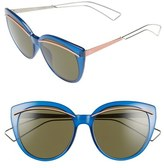 Christian Dior 'Liner' 56mm Cat Eye Sunglasses