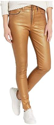 Joe's Jeans Charlie Ankle Coated in Gold Metallic