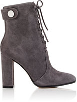 Gianvito Rossi Women's Finlay Suede Ankle Boots-DARK GREY