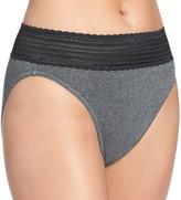 Warner's Warners No Pinching. No Problems. Lace-Trim Cotton Hi-Cut Panty RT2091P
