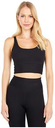 YEAR OF OURS Rib Gym Bra (Black) Women's Clothing