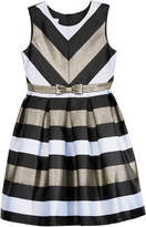 Bonnie Jean Metallic-Stripe Party Dress, Big Girls