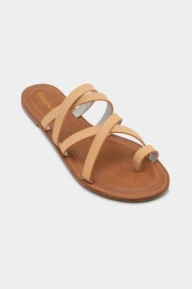 Brooke Gladiator Flat Sandal - Nude