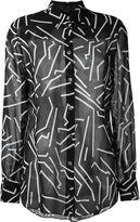 Alexander Wang geometric print shirt - women - Silk - 8